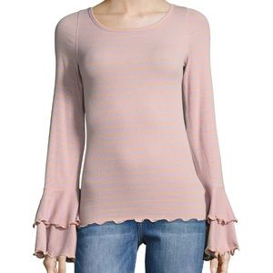 Free people the good find striped top NWOT